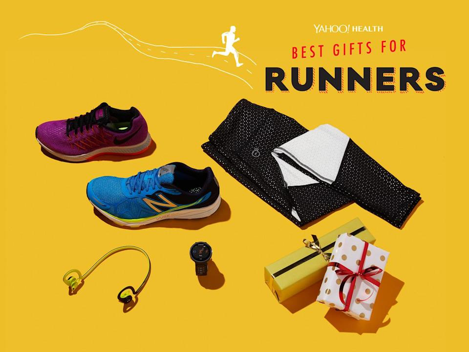 <p>Need help finding a gift for the running-obsessed person? We've got you covered.</p><p>(Design by Erik Mace / Photo by Jon Paterson for Yahoo Health)<br></p><p><br></p>