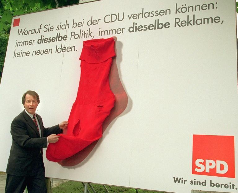 Red socks was a derisory term used in former East Germany for particularly unpleasant communist party members (AFP/GERO BRELOER)