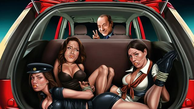 Ford ad shows Italian PM with gagged women in trunk