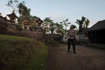 Almost 10000 escape unsafe zone amid potential volcano eruption in Bali, Indonesia