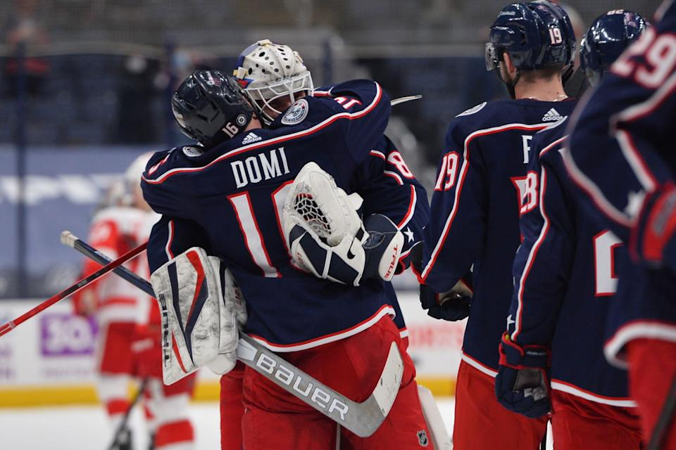 Matiss Kivlenieks, a 24-year-old goaltender for the Columbus Blue Jackets, died Sunday night after a tragic fireworks accident in Michigan. (Getty)