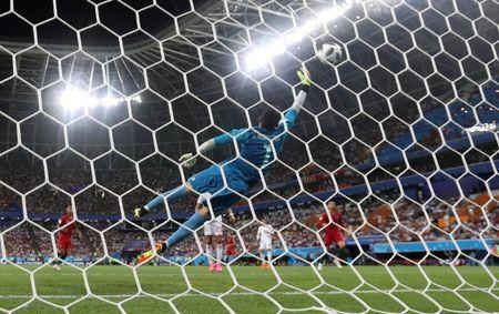 Soccer Football - World Cup - Group B - Iran vs Portugal - Mordovia Arena, Saransk, Russia - June 25, 2018 Iran's Alireza Beiranvand concedes Portugal's first goal scored by Ricardo Quaresma REUTERS/Matthew Childs