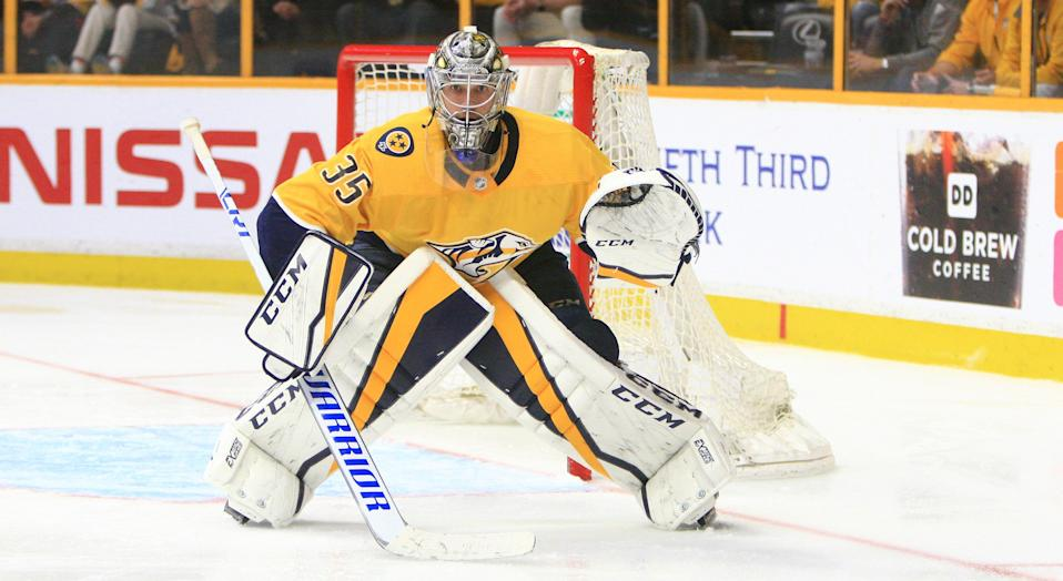 Pekka Rinne is the 2017-18 Vezina Trophy winner. (Photo by Danny Murphy/Icon Sportswire via Getty Images)