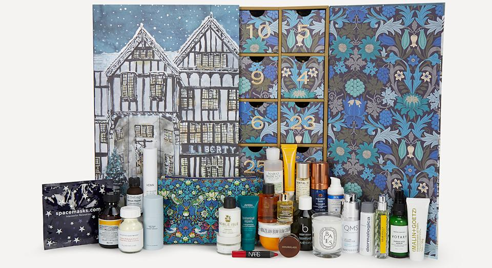This year Liberty's coveted beauty advent calendar is filled with almost £800 worth of products, which can be purchased for only £215. (Liberty)