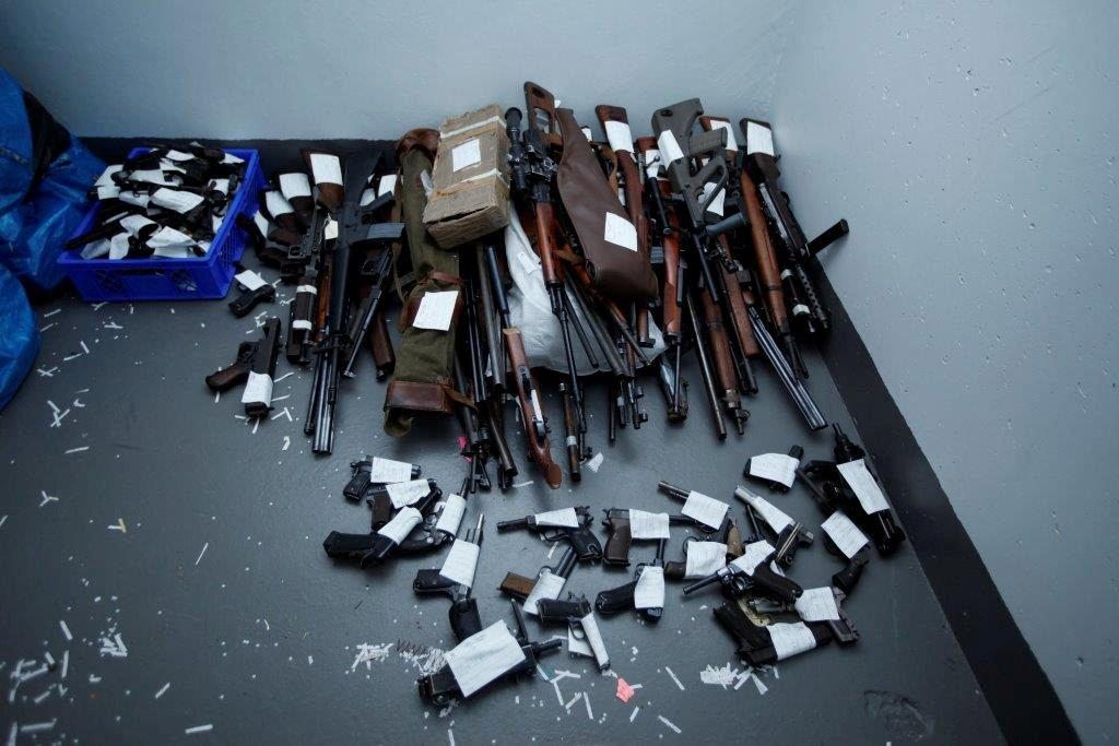 Undated handout picture made available by Norwegian police on September 21,2016, showing some of the weapons seized by police in various parts of Norway during the last couple of months.  Handout photo by Norwegian Police/NTB Scanpix/Handout via Reuters     TPX IMAGES OF THE DAY             ATTENTION EDITORS - THIS PICTURE WAS PROVIDED BY A THIRD PARTY. NOT FOR SALE FOR MARKETING OR ADVERTISING CAMPAIGNS. NO RESALES. NO ARCHIVE.  NORWAY OUT. NO COMMERCIAL OR EDITORIAL SALES IN NORWAY.      TPX IMAGES OF THE DAY