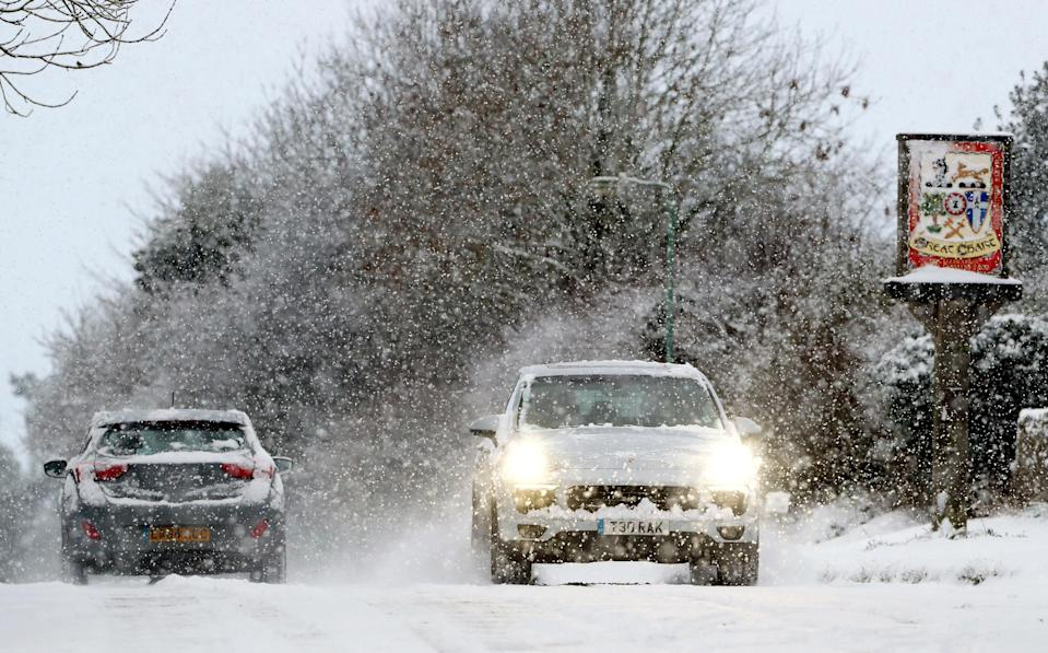 <p>Police forces across the UK have recorded a number of crashes on the roads as driving conditions worsen. (PA) </p>