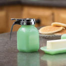 """<p>Make Saturday morning breakfast at home feel as charming as the neighborhood diner with this syrup dispenser.</p> <p><strong>Buy It: $12.99; <a href=""""http://www.anrdoezrs.net/links/7799179/type/dlg/sid/SLJadeiteIstheRetroKitchenTrendWereLovingRightNowHereAre10FavoriteItemsToShopOnlinekyarborough1271KitGal7861931202008I/https://www.bedbathandbeyond.com/store/product/tablecraft-reg-jadeite-glass-collection-trade-syrup-dispenser/5163440"""" rel=""""nofollow noopener"""" target=""""_blank"""" data-ylk=""""slk:bedbathandbeyond.com"""" class=""""link rapid-noclick-resp"""">bedbathandbeyond.com</a></strong></p>"""