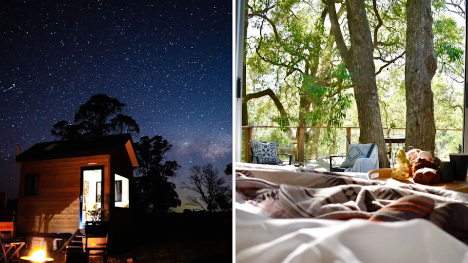 Two examples of amazing airbnbs now available for NSW residents to visit as the state reopens.