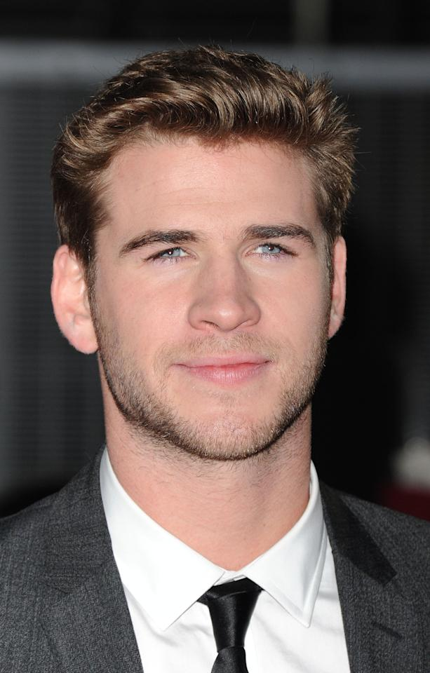 LONDON, UNITED KINGDOM - MARCH 14: Liam Hemsworth attends the European premiere of The Hunger Games at O2 Arena on March 14, 2012 in London, England. (Photo by Stuart Wilson/Getty Images)