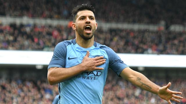 With his goal against Liverpool on Saturday, Sergio Aguero set a new landmark in the Premier League.
