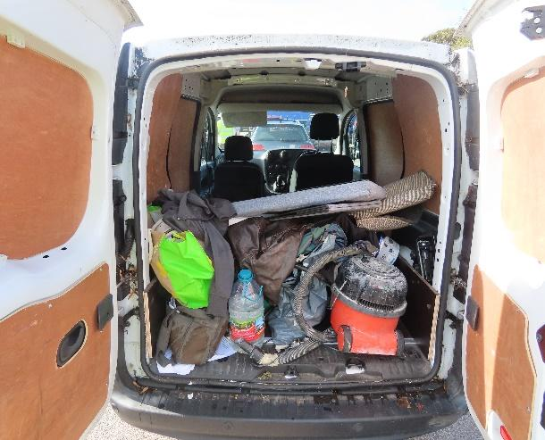 The back of Canning's van that was used to transport cocaine around London
