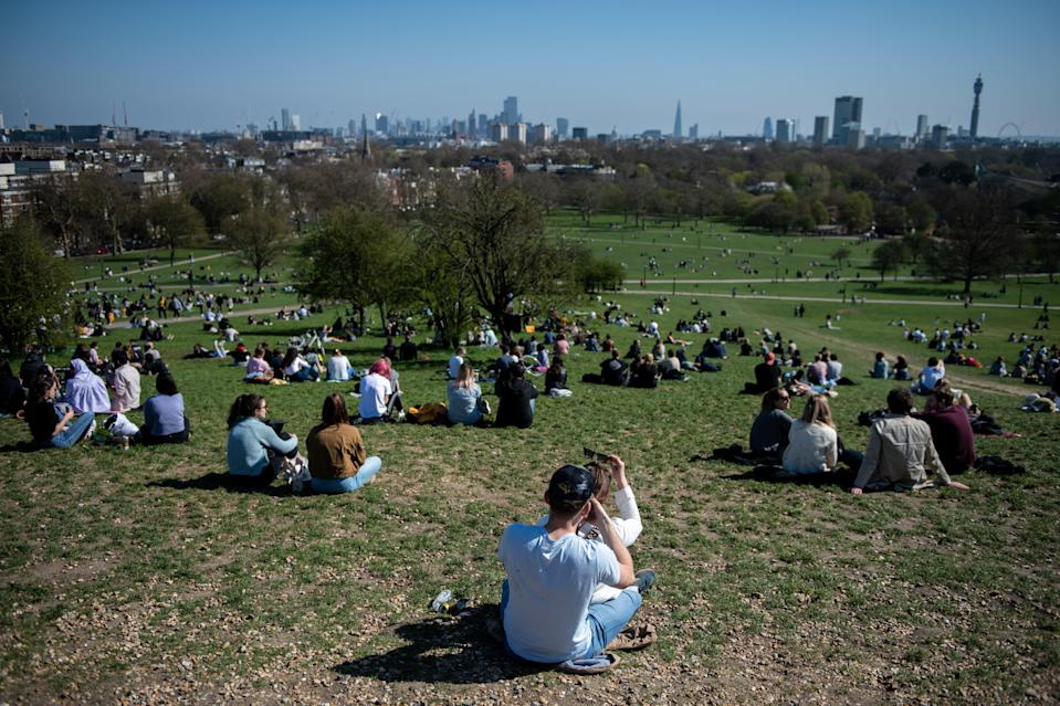 <p>Sunny weather is expected this weekend on Primrose Hill</p> (Getty)