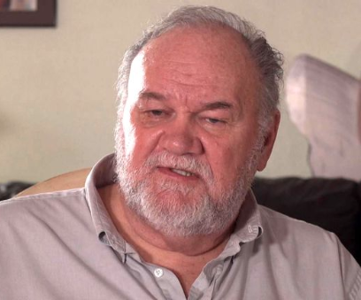 Thomas Markle talks to the camera during a channel 5 documentary .