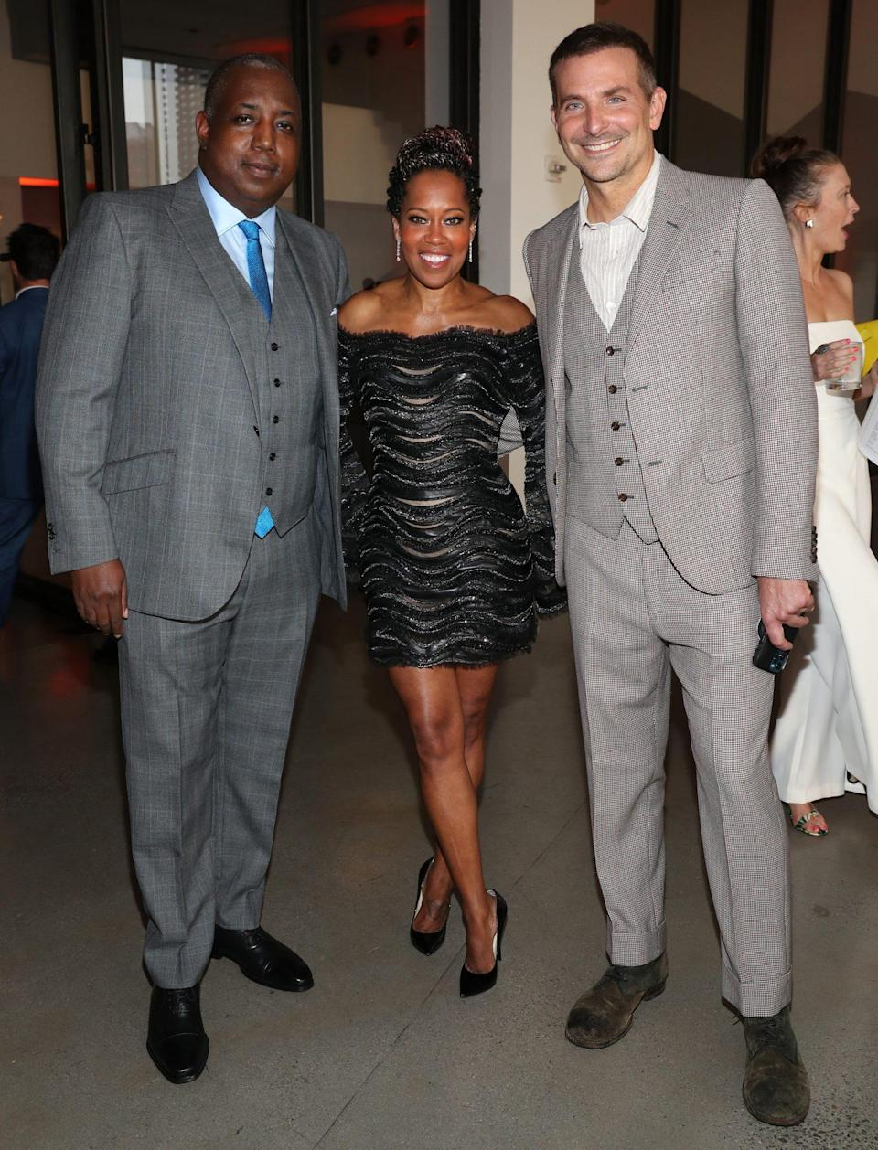 <p>Kemp Powers, Regina King and Bradley Cooper attend Bring On The Light: The 2021 Moth Ball Honoring Regina King and Kemp Powers at Spring Studios on June 22 in N.Y.C.</p>