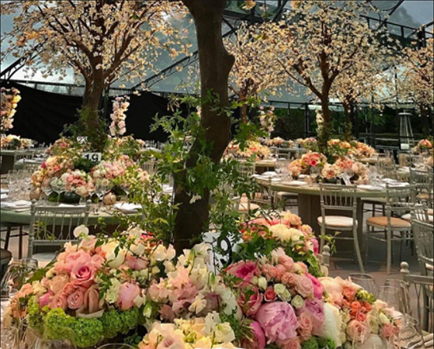 Now we've been given a glimpse inside the incredible $170,000 glass marquee. Photo: Instagram