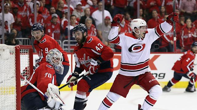 The Washington Capitals and Carolina Hurricanes played a thriller and it paled in comparison to the San Jose Sharks v Vegas Golden Knights.