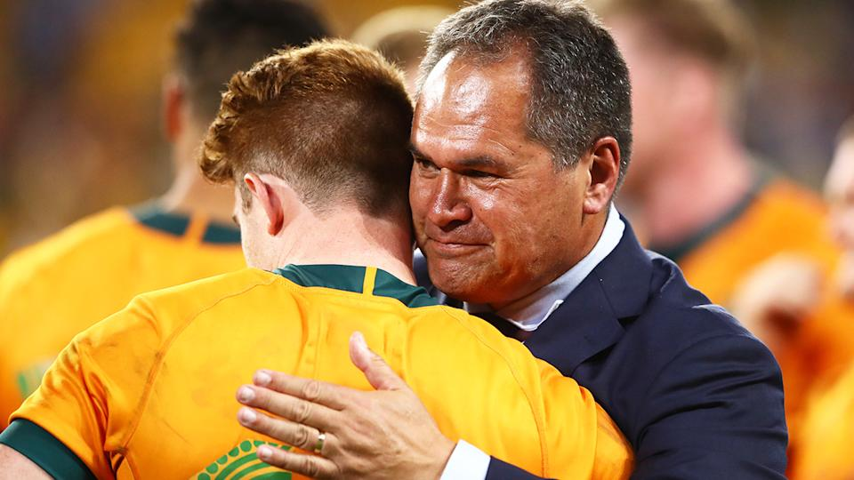 Wallabies coach Dave Rennie has turned the Wallabies into a respectable international rugby team after taking on the job in 2019. (Photo by Chris Hyde/Getty Images)
