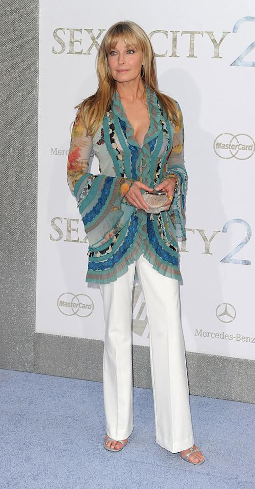 """<a href=""""http://movies.yahoo.com/movie/contributor/1800010415"""">Bo Derek</a> at the New York City premiere of <a href=""""http://movies.yahoo.com/movie/1810111276/info"""">Sex and the City 2</a> - 05/24/2010"""