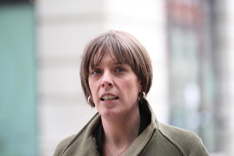 Shadow minister for domestic violence Jess Phillips at BBC Broadcasting House in central London after appearing on the BBC1 current affairs programme, The Andrew Marr Show, where she called for better funding and resources for education to prevent violence against women. Picture date: Sunday March 14, 2021.