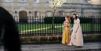"""<p>It wasn't just the romance that captured our imagination in the Netflix show, but the costumes as well. Costume designer Ellen Mirojnick <a href=""""https://www.vogue.com/article/bridgerton-costumes"""" rel=""""nofollow noopener"""" target=""""_blank"""" data-ylk=""""slk:employed a team of 238 people"""" class=""""link rapid-noclick-resp"""">employed a team of 238 people</a> and created a whopping 7,500 pieces for the season. Another crazy stat? Daphne Bridgerton had 104 costumes alone.</p>"""