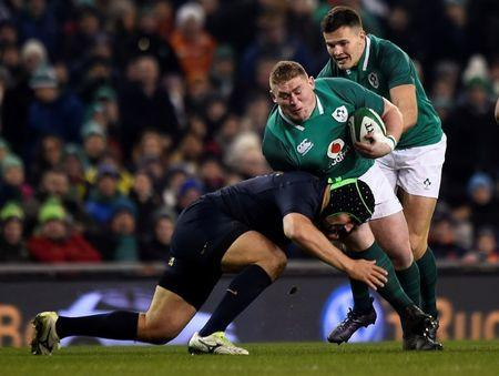 FILE PHOTO - Rugby Union - Autumn Internationals - Ireland vs Argentina - Aviva Stadium, Dublin, Republic of Ireland - November 25, 2017 Ireland's Tadhg Furlong in action REUTERS/Clodagh Kilcoyne