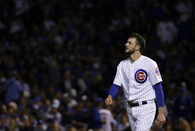 Kris Bryant had a rough series against the Dodgers. (AP Photo/Nam Y. Huh)
