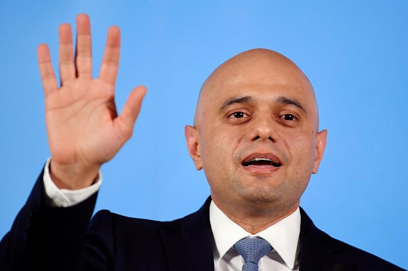 Britain's Home Secretary Sajid Javid speaks during the launch of his campaign for the Conservative Party leadership, in London, Britain, June 12, 2019. REUTERS/Toby Melville