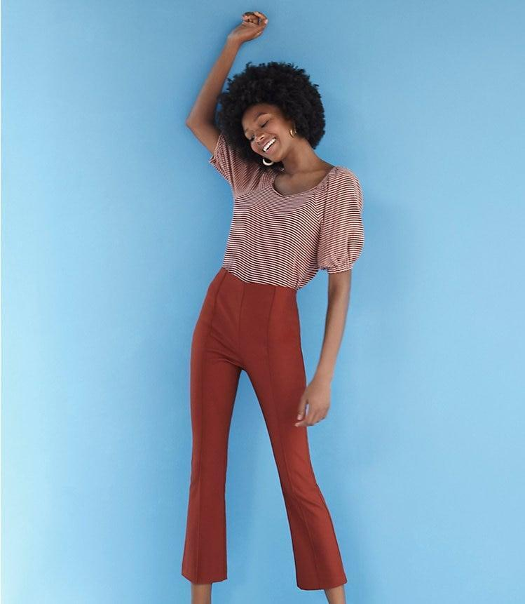 <p>These <span>Loft High Waist Kick Crop Pants</span> ($80) come in three other shades.</p>