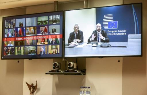 European Commission and European Council presidents Ursula von der Leyen and Charles Michel discussed with other senior officials the continent's response to the coronavirus in a conference call, urging cooperation to combat a global crisis