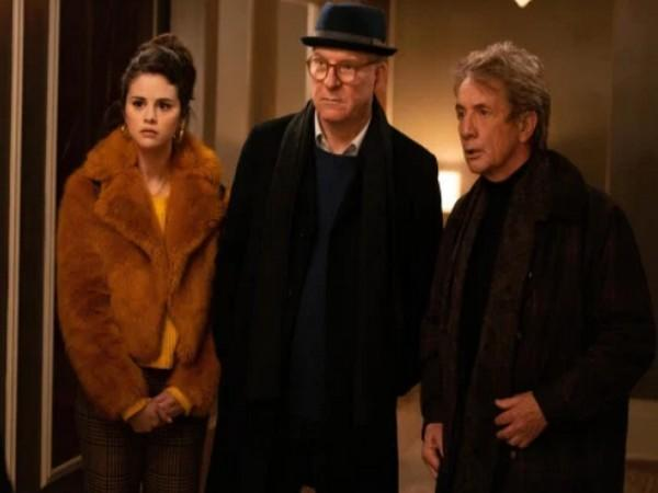 Selena Gomez, Steve Martin, Martin Short in a still from 'Only Murders in the Building' (L to R) (Image source: Instagram)