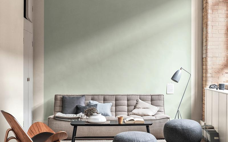 A room painted in Tranquil Dawn, Dulux's 'colour of the year' for 2020 -