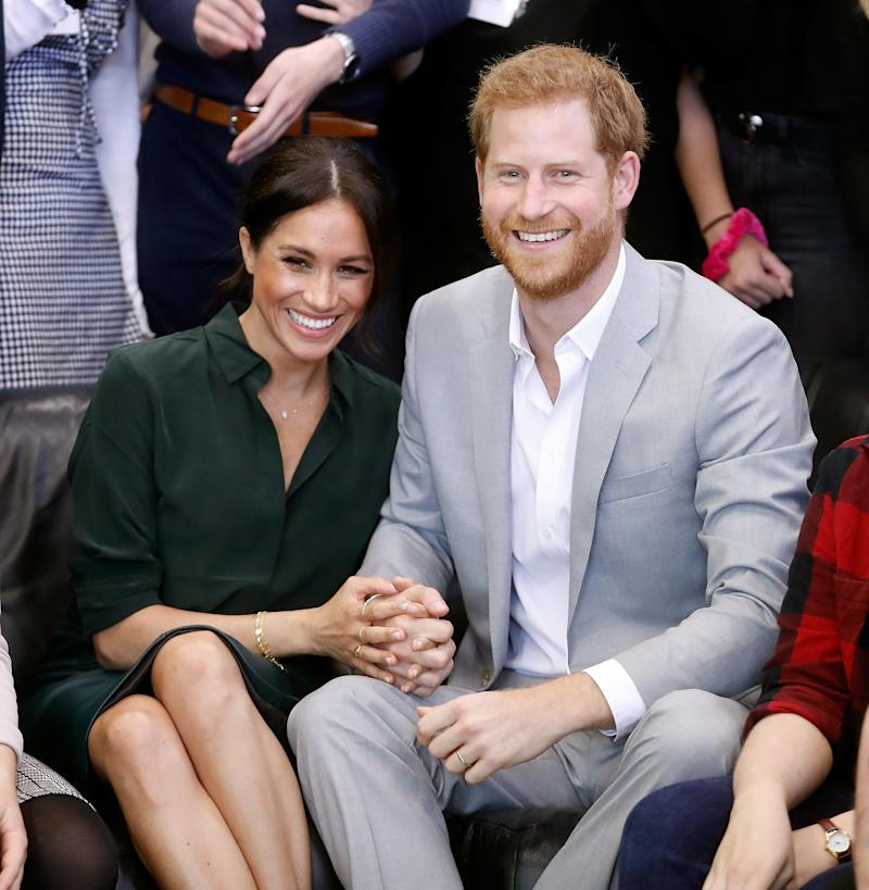 The Duke and Duchess of Sussex's first-born could be an Earl or a Lady. (Getty Editorial)