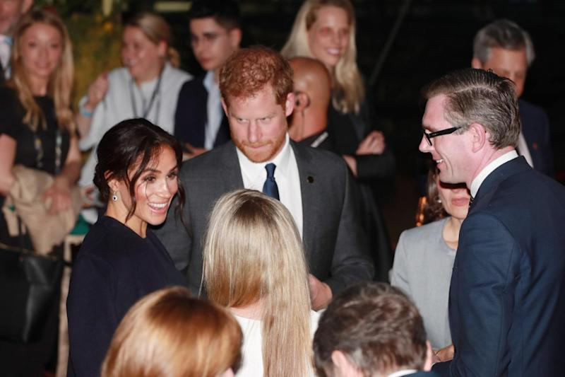 Harry and Meghan attend a reception before the opening ceremony of the 2018 Invictus Games (Getty Images)