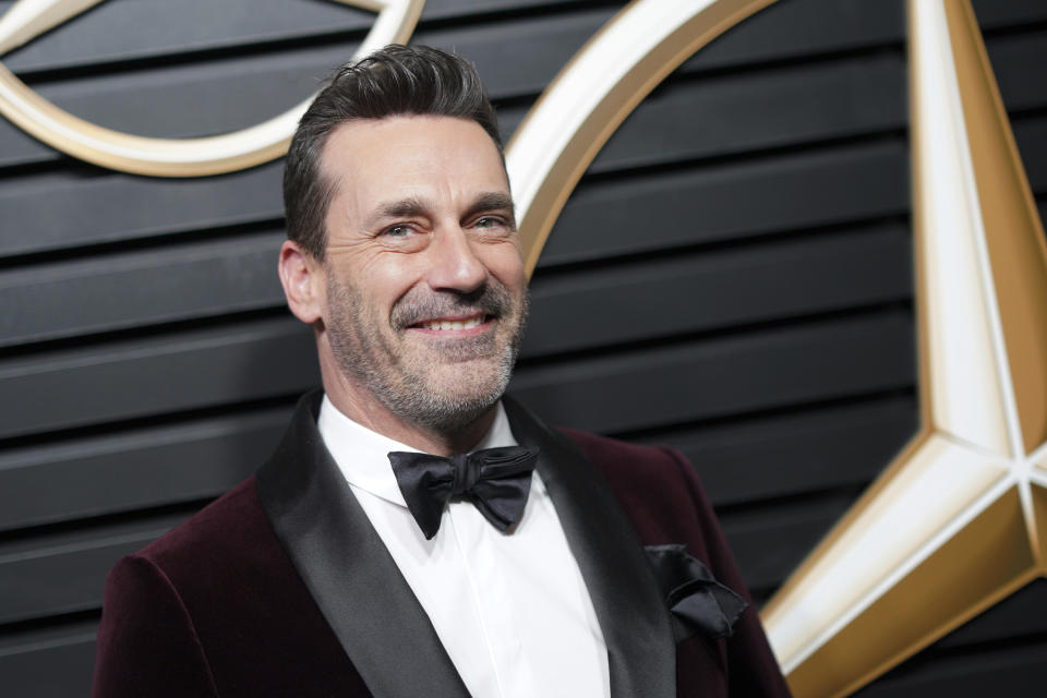 BEVERLY HILLS, CA - FEBRUARY 9: Jon Hamm at the Mercedes-Benz Annual Academy Awards Viewing Party at the Four Seasons Hotel in Beverly Hills, California on February 9, 2020. Credit: Tony Forte/MediaPunch /IPX
