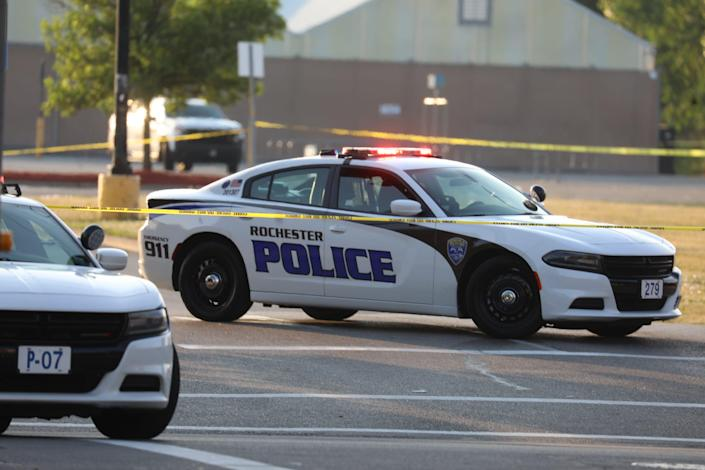 Four people were one shot, one fatally, early this morning on Hudson Avenue in Rochester on June 28, 2021. Rochester police said several hundred people were gathered in a parking lot at 1490 Hudson Avenue around 12:50 a.m. when a fight broke. At  some point during the fight over 20 gunshots were fired from several weapons.