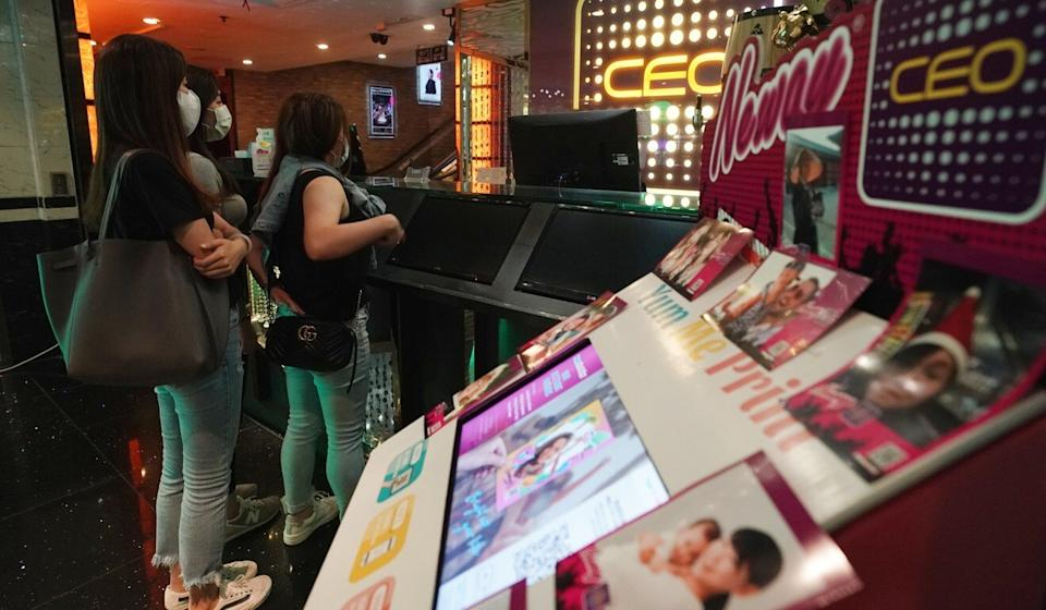 People visit the CEO karaoke lounge in Wan Chai after it reopened to the public in September. Photo: Felix Wong