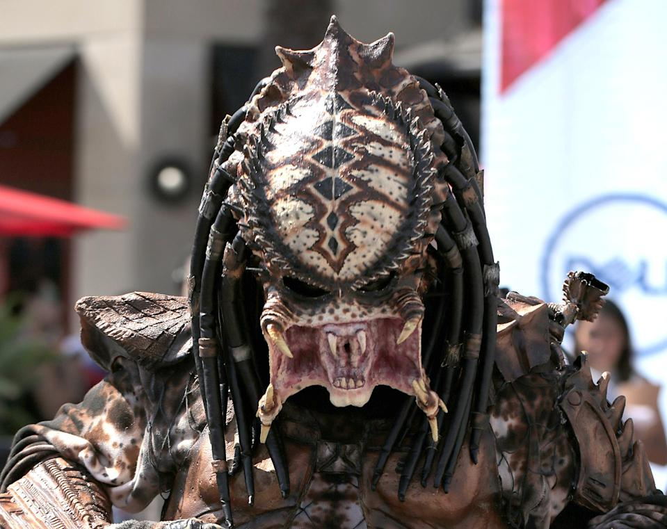 <p>Cosplayer dressed as Predator at Comic-Con International on July 19, 2018, in San Diego. (Photo: Quinn P. Smith/Getty Images) </p>