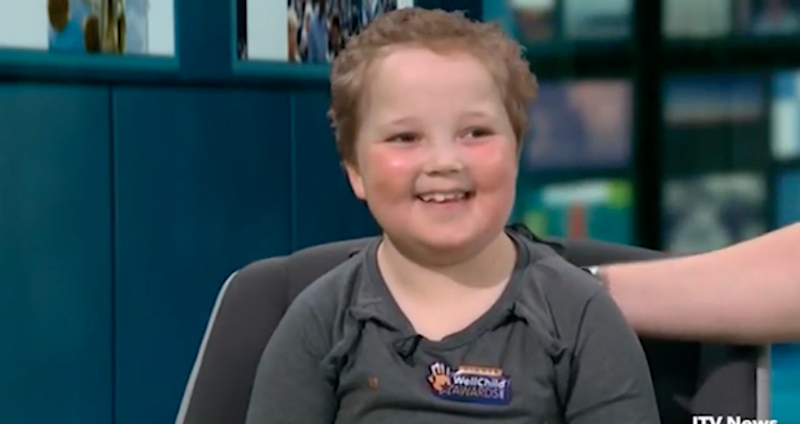 Erin was the recipient of a Wellchild award after battling leukemia for five years. Photo: ITV