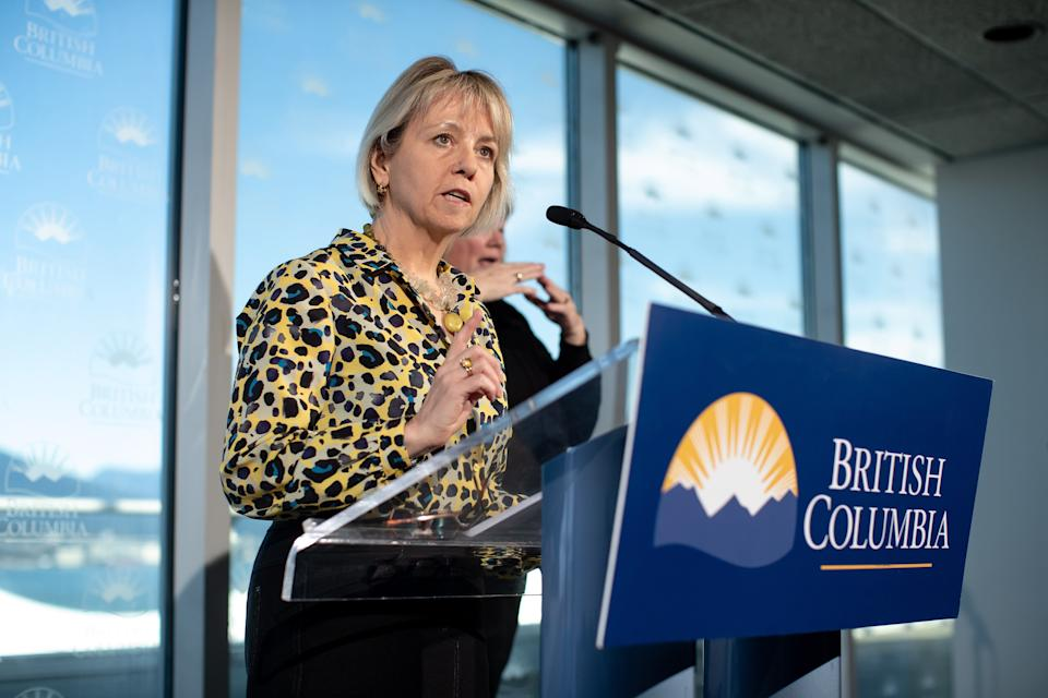 British Columbia provincial health officer Dr. Bonnie Henry speaks during a news conference regarding the novel coronavirus COVID-19, in Vancouver on March 14, 2020.  (Photo: Darryl Dyck/THE CANADIAN PRESS)