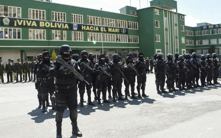 The 60-strong GAT anti-terrorist force was presented in La Paz on December 3
