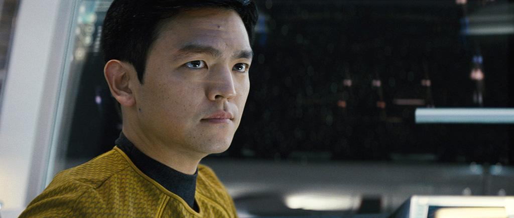 "When we looked at this exclusive photo of <a href=""http://movies.yahoo.com/movie/contributor/1804486090"">John Cho</a> in the part of Sulu, I asked how they juggled the large cast of characters aboard the Enterprise. They said they took their ""major cues from the original series"" where each crewmember served a specific function and contributed their own unique point of view. Kurtzman said there is, ""plenty of story for everyone,"" and that each character is necessary to see it through."
