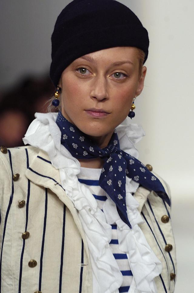 Anastassia Khozzisova wearing Ralph Lauren Spring 2006 (Photo by Biasion Studio/WireImage)