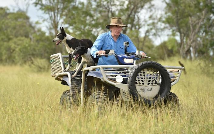 Australian cattle farmer Simon Gedda joined the advocacy group Farmers of Climate Action after his farm was seriously flooded in 2017 by a category-four cyclone (AFP Photo/PETER PARKS)