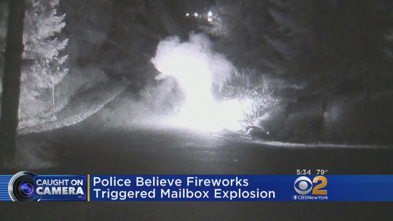 A mailbox explosion in Washington state is caught on camera, destroying 7 mailboxes. CBS2's Kristine Johnson reports.