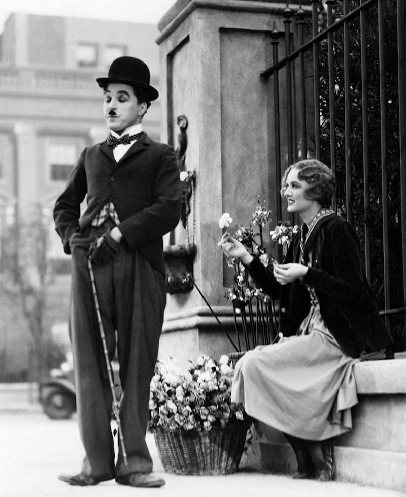 Melania's suit reminds us of Charlie Chaplin. Photo: Getty