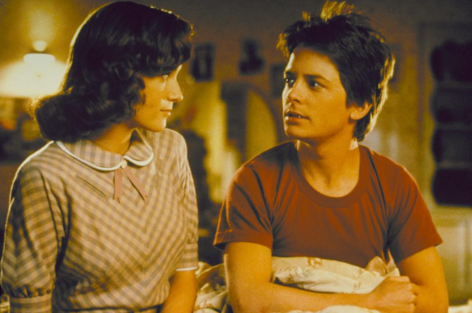 Michael J Fox with Lea Thompson in Back To The Future (Universal Home Entertainment)