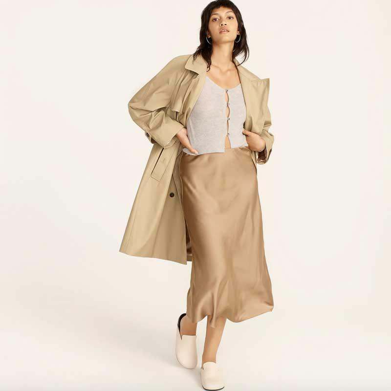"""Our classic fashion dreams have come true, thanks to J.Crew adding extended sizing to so many of its popular styles. This season, we're dreaming of wearing cozy cashmere knits, silky slip skirts, and sophisticated jackets to our rotation. Be prepared to field compliments and """"where did you get that"""" questions from friends and strangers alike. $78, J. Crew. <a href=""""https://www.jcrew.com/p/womens/categories/clothing/skirts/midi/pull-on-slip-skirt/AC467?display=standard&fit=Classic&color_name=camel&colorProductCode=AC467"""" rel=""""nofollow noopener"""" target=""""_blank"""" data-ylk=""""slk:Get it now!"""" class=""""link rapid-noclick-resp"""">Get it now!</a>"""