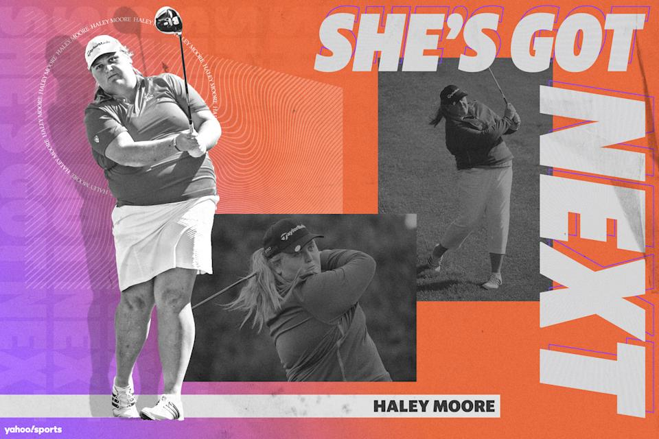 LPGA rising star Haley Moore has found her escape and happiness in golf. (Amber Matsumoto/Yahoo Sports)
