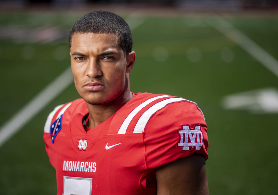 Bru McCoy, one of the country's top football prospects, has enrolled at Texas after initially committing to USC. (Photo by Leonard Ortiz/Digital First Media/Orange County Register via Getty Images)