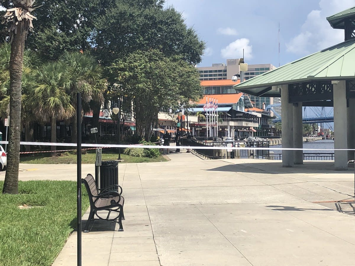 Police have blocked off the area where the shooting occurred. (Photo: Brittney Donovan/Action News Jax)